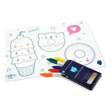 Superpetit Table Colouring Set with 5 Pens and A Little Lovely Company Bracelet-listing