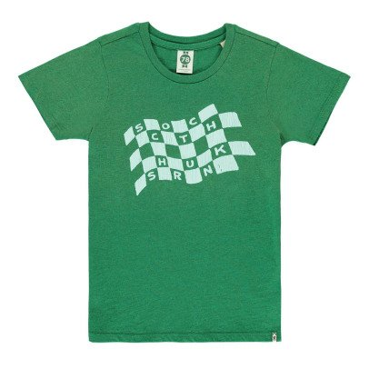 Scotch & Soda T-shirt Drapeau Damier-listing