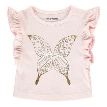 Zadig & Voltaire Angie Butterfly Ruffle T-Shirt-product