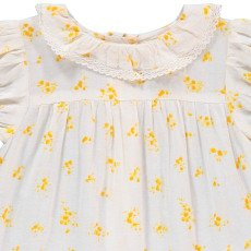 Louis Louise Apricot Flower Collar Blouse -listing