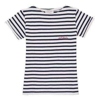 Maison Labiche T-shirt Marinière Brodée Amour-listing
