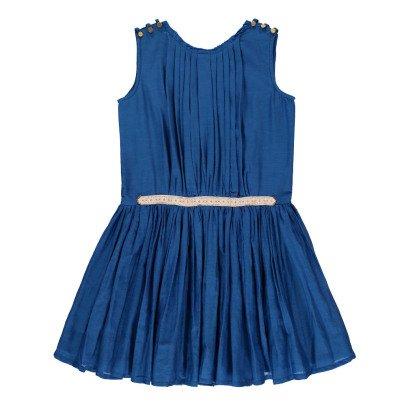 Velveteen Kleid aus Baumwolle und Seide Anila -listing