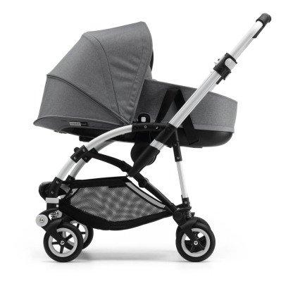 Bugaboo Carrozzina evolutiva BEE5 telaio alluminio, seduta nera, navicella-listing