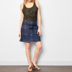 Soeur Vintage Button-Up Skirt-listing