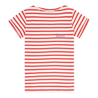 Maison Labiche Blondie Embroidered Marinière T-Shirt-listing