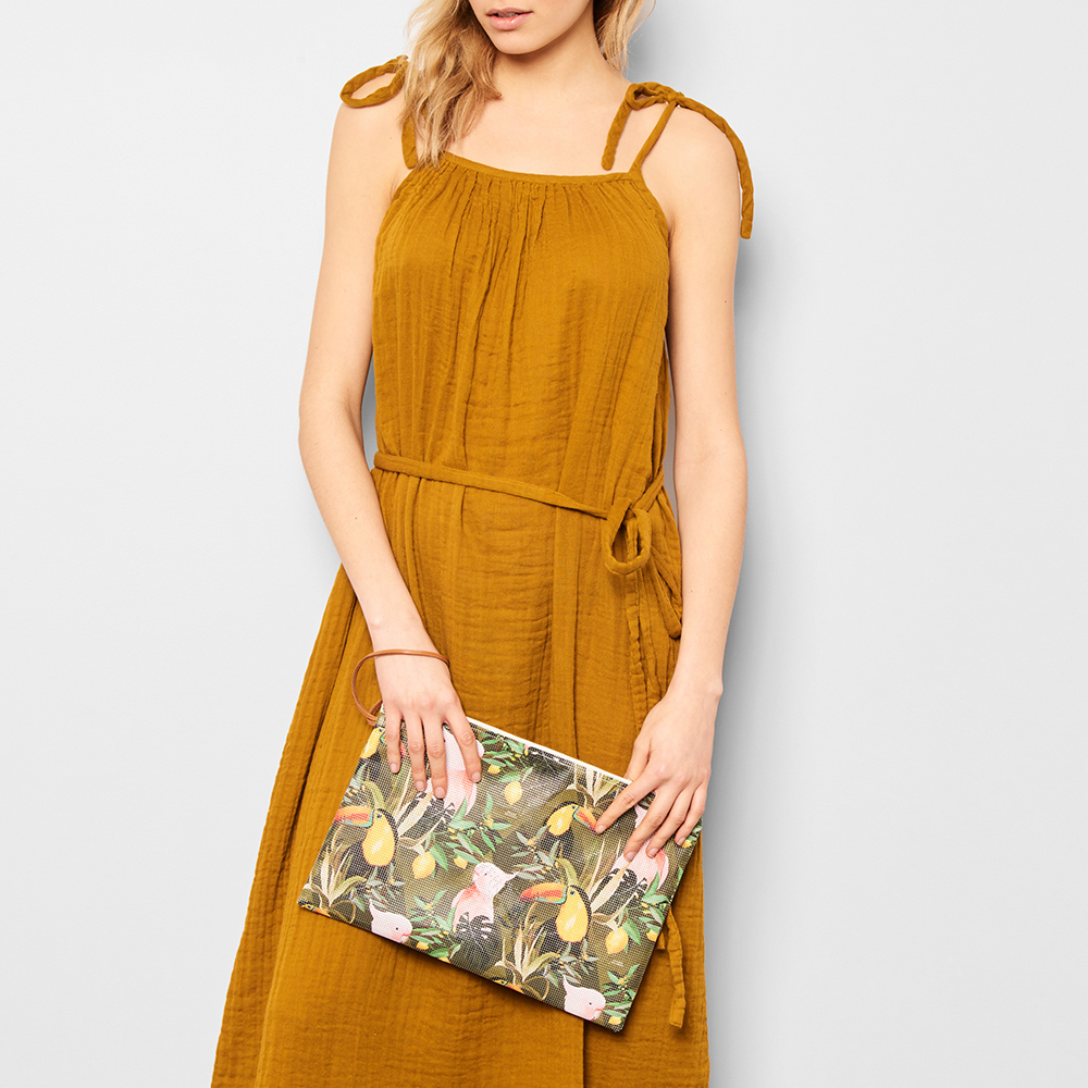 Maison Baluchon Perforated Jungle Pouch-product