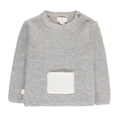 BABY ALPAGA Galipette Contrasting Alpaca Wool Baby Jumper with Pocket-listing