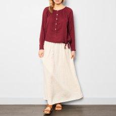 Numero 74 Blouse Manches Longues Naia - Collection Ado et Femme - Rouge framboise-listing