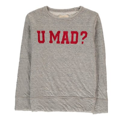 "Bellerose Sokaw ""U Mad"" Double Jersey Sweatshirt-listing"