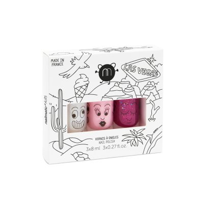 Nailmatic Kids Las Vagas Set of 3 Nail Varnishes - Super, Bella and Sheepy-listing