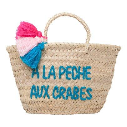 Rose in April A La Pêche aux Crabes Embroidered Pompom Basket-listing