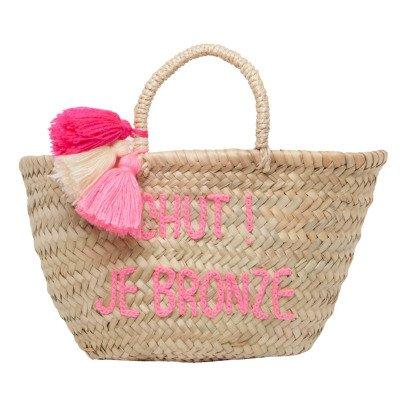 Rose in April Chut, Je Bronze Embroidered Pompom Basket-listing