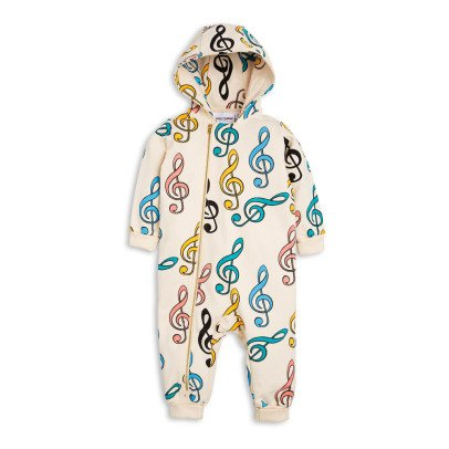 Mini Rodini Clefs Zip-Up Hooded Jumpsuit-listing