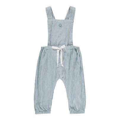 Tocoto Vintage Striped Dungarees-listing