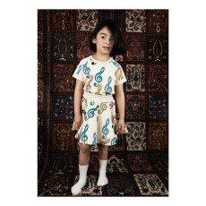 Mini Rodini Clefs Organic Cotton Fleece Skirt-product