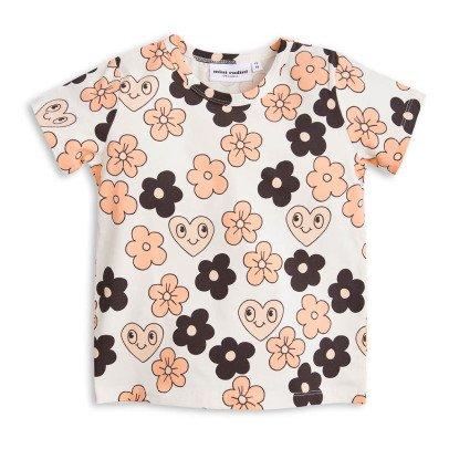 Mini Rodini T-shirt Fleurs Coton Bio-listing