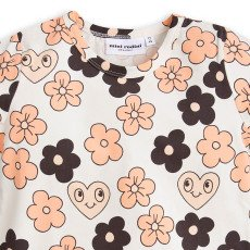 Mini Rodini Organic Cotton Flower T-Shirt-listing