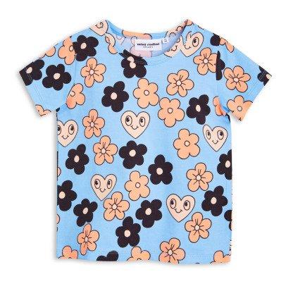 Mini Rodini Camiseta Flores Algodón Biológico-listing