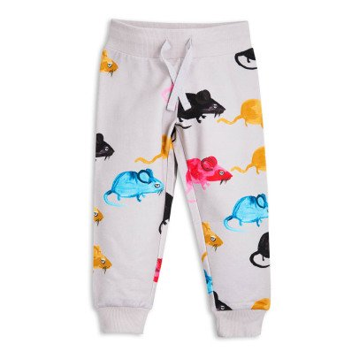 Mini Rodini Mr Mouse Organic Cotton Jogging Bottoms-listing