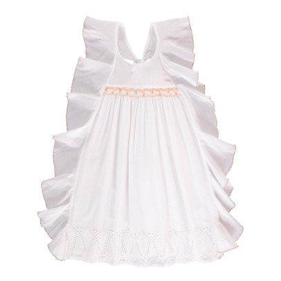 Velveteen Amber Embroidered Ruffle Smock Dress-listing