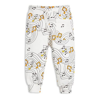 Mini Rodini Organic Cotton Music Jogging Bottoms-listing