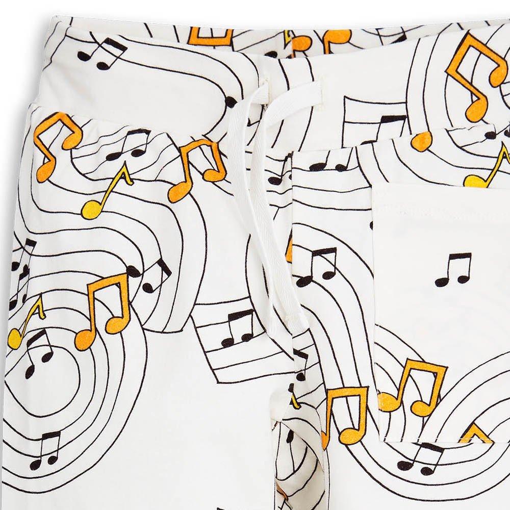 Mini Rodini Organic Cotton Music Jogging Bottoms-product