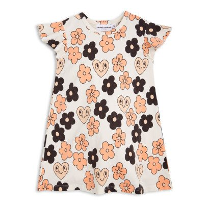 Mini Rodini Organic Cotton Flower Trapeze Dress-listing