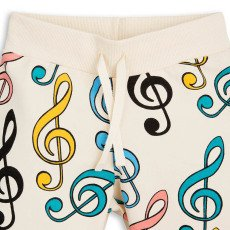 Mini Rodini Clefs Organic Cotton Fleece Shorts-product