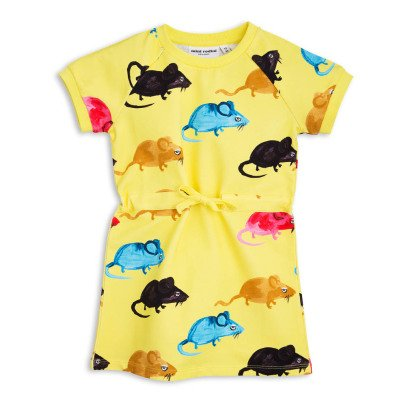 Mini Rodini Mr Mouse Organic Cotton Fleece Dress-listing
