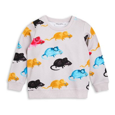 Mini Rodini Mr Mouse Organic Cotton Sweatshirt-listing
