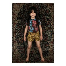Mini Rodini Daisy Floral T-Shirt with Peter Pan Collar-product