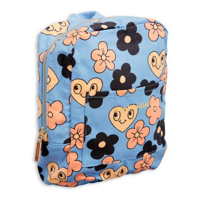 Mini Rodini Organic Cotton Flower Backpack-listing