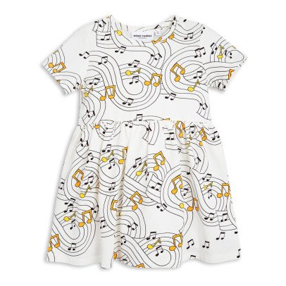 Mini Rodini Organic Cotton Music Skater Dress-listing