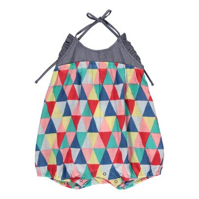 Lulaland Barboteuse Coton Bio Triangles Cindy-listing
