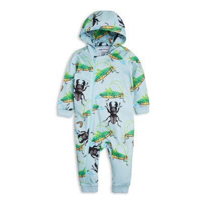 Mini Rodini Insect Zip-Up Hooded Jumpsuit-product