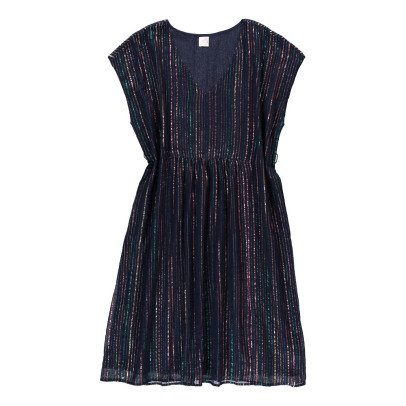 Des petits hauts Wally Lurex Striped Dress-listing