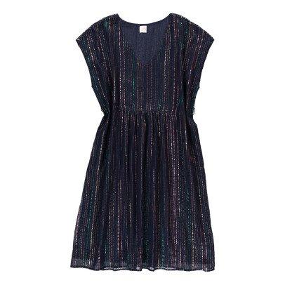 Des petits hauts Wally Lurex Striped Dress-product