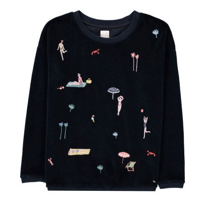 Des petits hauts Ivonne Embroidered Sweatshirt-product