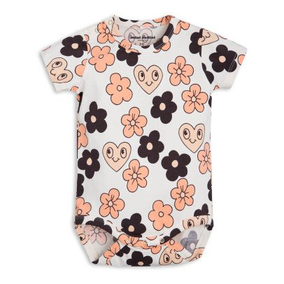 Mini Rodini Organic Cotton Flower Babygrow-product