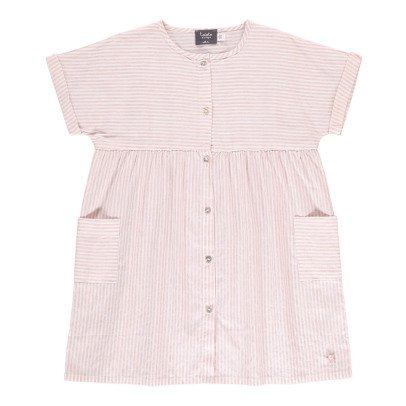 Tocoto Vintage Striped Shirt Dress-listing