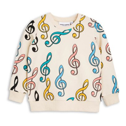 Mini Rodini Clefs Organic Cotton Sweatshirt-listing