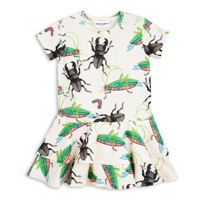 Mini Rodini Organic Cotton Insect Ruflfe Dress-product