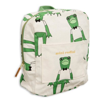 Mini Rodini Organic Cotton Frog Backpack-listing