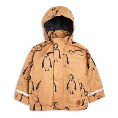 Mini Rodini Parka Imperméable à Capuche Pingouins-listing
