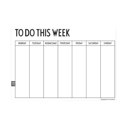 Design Letters Wochenkalender -listing