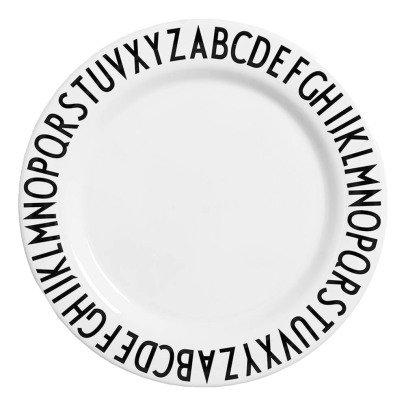 Design Letters Assiette plate en mélamine-listing