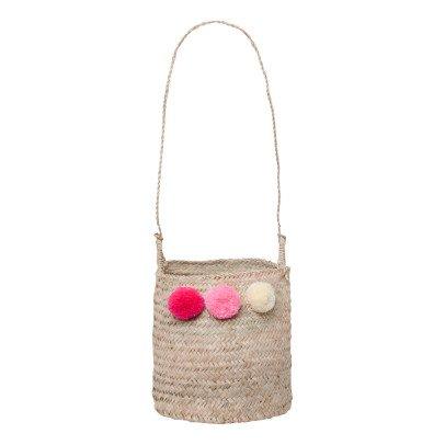 Rose in April Hanging Straw Basket-listing