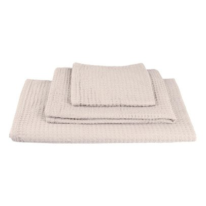 Numero 74 Set of 3 Honeycomb Towels - Powder-product