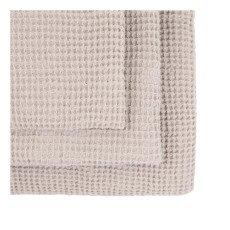 Numero 74 Set de 3 serviettes de toilette en nid d'abeille - Poudre-listing