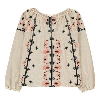 Louise Misha Cadix Embroidered Linen and Cotton Blouse - Women's Collection-product